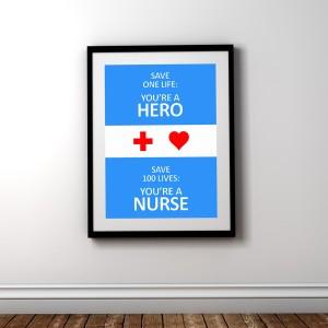 plaket-save-one-life-nurse-blue-diplomirane-akademichni-shapki-i-podaruci