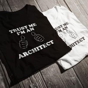 teniska-trust-me-i-am-an-architect-bw-diplomirane-akademichni-shapki-i-podaruci