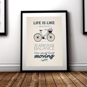 plaket-Albert-Einstein-life-is-like-riding-a-bicycle-diplomirane-akademichna-shapki-za-diplomirane-i-podaruci